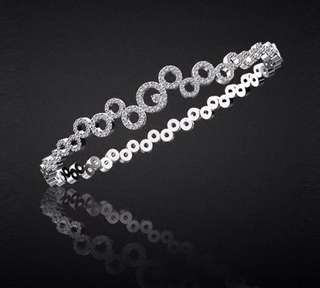 Beautiful 0.9TCW Diamond circles bracelet