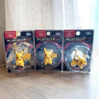Pokemon寵物小精靈比卡超Pikachu figure擺設一套日本