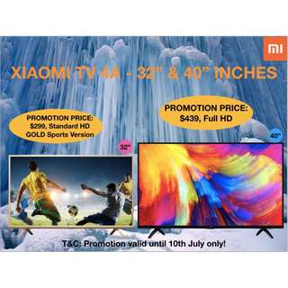 🚚 Mi TV 4A / 4S 40 inches 43 inches 50 inches  smart Android tv unlimited drama and movies