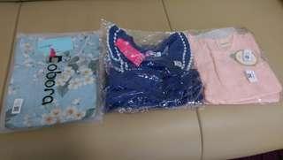 Baby girl baju jalan + combo set (0m-12m)