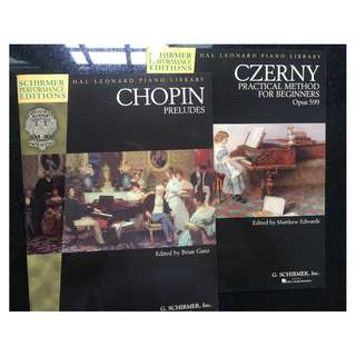 Chopin & czerny piano books