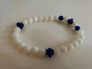 加持  天然硨磲 稀有寶石、白皙如玉 約8mm 別具風格 送禮自用 結緣特惠