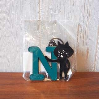 日本Ne-net Nya貓貓英文字母掛飾N