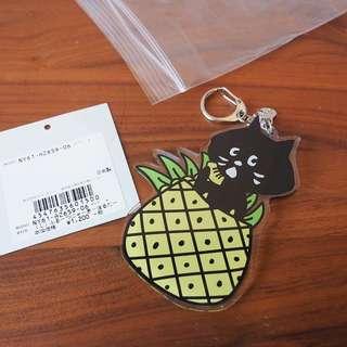 日本Ne-net Nya貓貓菠蘿水果掛飾keychain