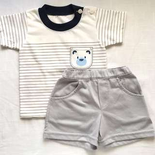 Bambini Baby Boys' Shirt and Shorts (6 mos)