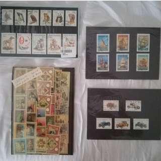 Stamps - Australia cars, Tanzania boats, Russia & Roman animals, Vatican series