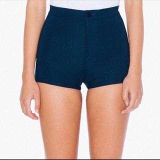 American Apparel Ponte Disco Shorts Black Size S