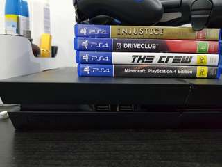 Sony PS4 Console, Controller (×1) and 3 Games For Sale