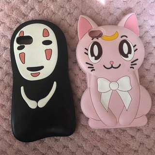 Pink Artemis and no face phone cases