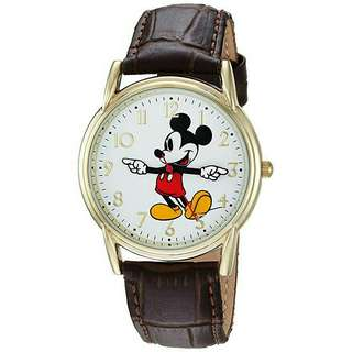 Men's Watch Disney Mickey Mouse Brown Leather WDS000406