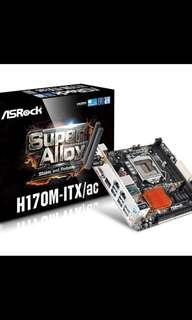 ASRock motherboard H170M-ITX/AC