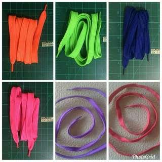 "Code: Poly K5 flat shoe laces Shape: flat Material: Polyester Size: 127cm / 51"" Price: P66/ Dozen Price: P10/ Pair"