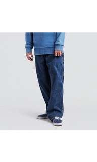 Levi's sliver tab 復古寬版牛仔褲 深藍色