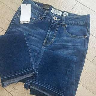 f&h cropped pants size 28
