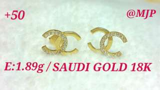 Saudi gold 18k Chanel earring