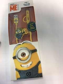 Minions USB迷你兵團叉電器電線