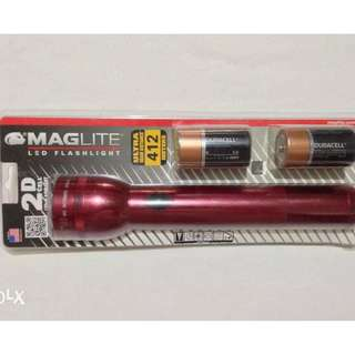 Maglite Heavy Duty 2D Cell LED Flashlight USA