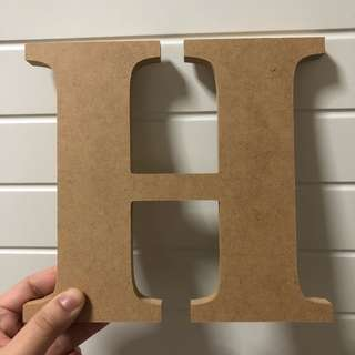 "Letter ""H"" Wood decor"