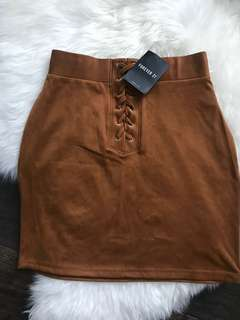 BNWT Faux suede skirt
