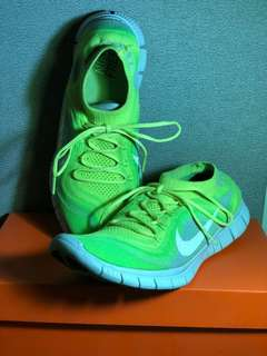 Nike Free 5.0 Flyknit (Volt/White/Electric Green/Wolf Grey)
