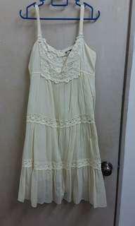 #50under Light Yellow Dress