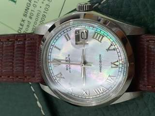 Rolex Oysterdate Perpetual with Mother of Pearl Dial