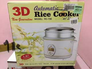 3D automatic rice cooker w/ steamer