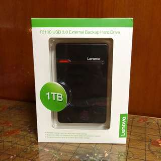 Lenovo external hard disk 1TB Usb3.0