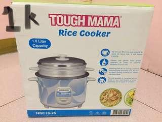 Tough mama rice cooker w/ steamer 1.8l