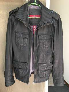 🚚 Superdry new Brad Leather Jacket Size M