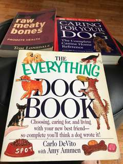 Books on all about dogs. All for $15