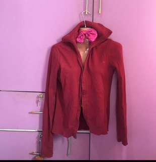 Red jacket with zip Large