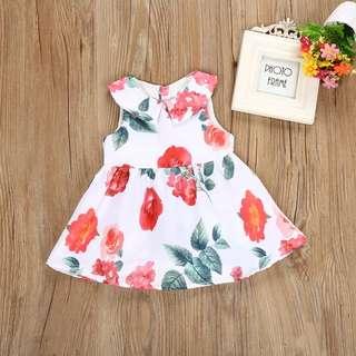 🚚 Instock - rose printed dress, spring summer 2018 collection
