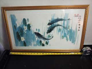 Feng Shui Art Chinese wrote in Framed