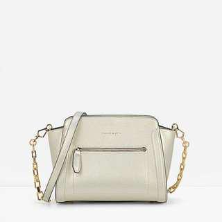 Charles & Keith Trapeze Crossbody Bag in Gold