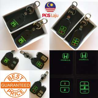 Honda Remote Smart Key Case Cover City Jazz Accord CRV BRV HRV Leather Glow