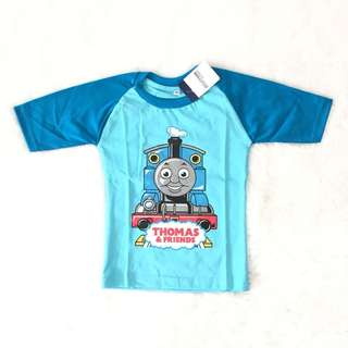 Kaos anak raglan thomas train