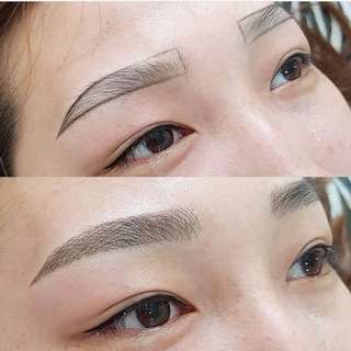Microblading Brow and Eyeliner combos