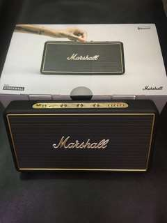 Marshall - Stockwell 攜帶型行動電源藍芽喇叭-經典黑(水貨)