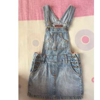 Blue Denim Dungarees Skirt