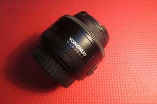 Lensa Fix Canon yongnuo 50mm f1.8