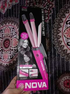 Hair straightening and curler