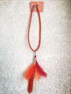 Red Orange Necklace