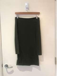 Khaki Kookai Dress Size 1