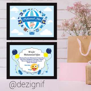 2 in 1 Personalised Child Frame