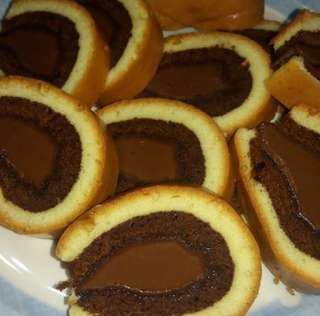 Kek Roll Tapak Kuda Nutella