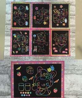 Kids creative Scratch Art/ colouring Art