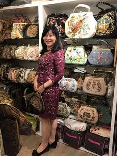 La Blanche Vintage bag 復古懷舊手袋古董手袋 十字繡花袋自家品牌hand made purse