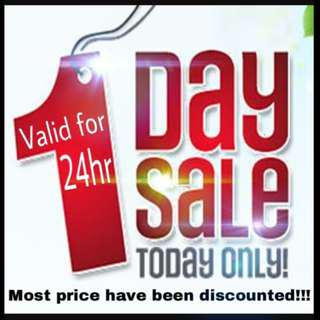 1 Day SALES !!! 24 Hours ONLY !!!