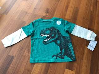 BNWT Carter's Glow in the Dark Long Sleeve Shirt - 12m